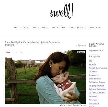 SWELL:  She's Swell! Juliana's Farm founder Juliana Castaneda