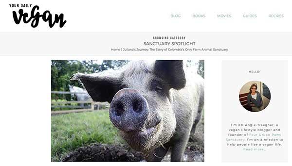 Your Daily Vegan: SANCTUARY SPOTLIGHT – Julianas Animal Sanctuary