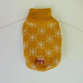 Saco Tejido lana sintetica diseño navidad – Amarillo