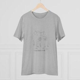 Organic T-shirt  Unixes Peter and Loki pig
