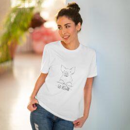 Organic T-shirt  Unixes Go Vegan