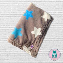Soft Blanket grey with big stars