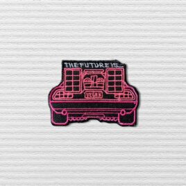 The future is Vegan pink DeLorean patch