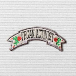Vegan Activist white patch